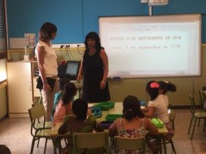 La edil de Educación, Patricia Maciá ha visitado los colegios Jaime Balmes y Eugeni d'Ors