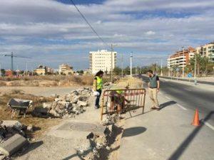 El concejal de Mantenimiento, Héctor Díez, ha visitado esta mañana las obras