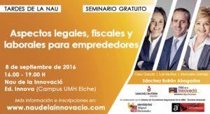 La UMH dedica una jornada a aspectos legales, fiscales y laborales para emprendedores