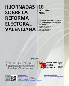 la-umh-organiza-las-ii-jornadas-sobre-la-reforma-electoral-valenciana