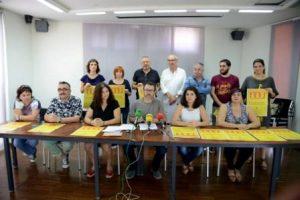 Roda de premsa de presentació de la manifestació del 9 d'Octubre