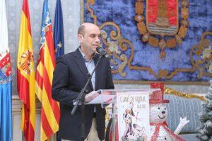 El alcalde de Alicante, Gabriel Echávarri, presenta en rueda de prensa la Campaña Navideña 2016. Salón Azul. Foto; Ayuntamiento de Alicante/Ernesto Caparrós