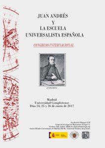 """""""Juan Andrés y la Escuela Universalista Española"""""""