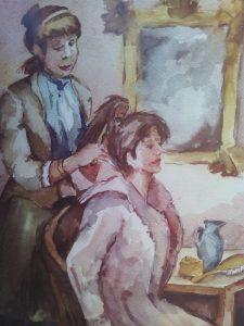 Dibujo Carmela la pentinaora