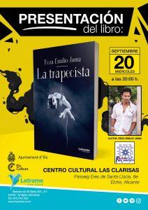 """REZA EMILIO JUMA vuelve a Elche para presentar en Las Clarisas, su última obra titulada """"La trapecista""""."""