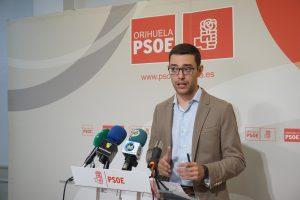 Portavoz Adjunto de los socialistas oriolanos, Víctor Ruiz