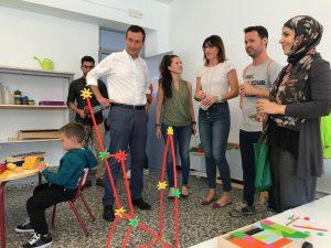el alcalde, Carlos González y la edil de Educación, Patricia Macià, han visitado los colegios López Orozco, Blasco Ibáñez y Número 37