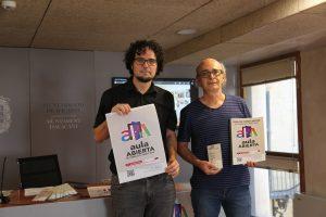 DANIEL SIMÓN, CONCEJAL DE CULTURA Y ANTONIO URIOS, TÉCNICO RESPONSABLE DEL PROGRAMA.