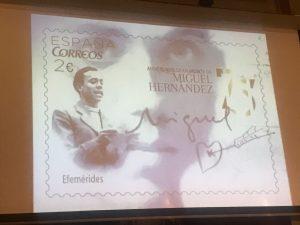 sello de Correos con motivo de la conmemoración del Año Hernandiano