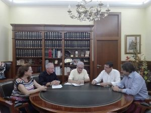El Ayuntamiento, Cooperativa Eléctrica y la Federación de Semana Santa, firman el convenio de financiación y promoción del Museo de la Semana Santa por importe de 67.976 €