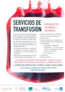 enfermera transfusional